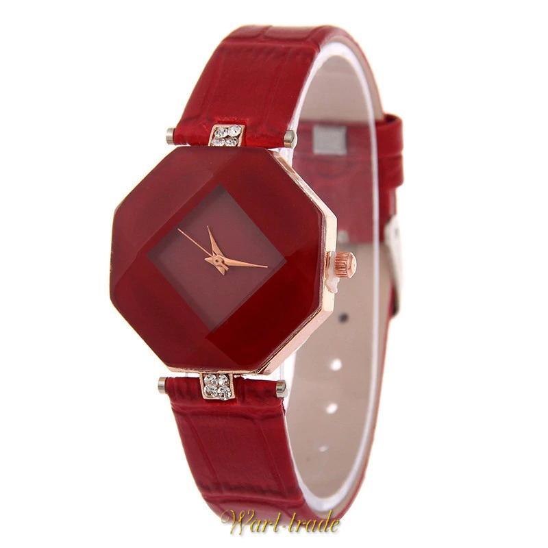 6fe0c0802 ŠPERKY/HODINKY/KOSMETIKA | Dámské hodinky ve tvaru krystalu červené ...