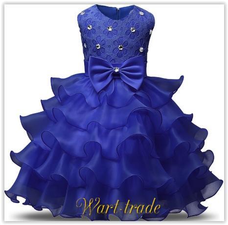 6fc34e826a76 Šaty pro dívky Princess modré